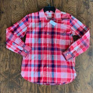 NWT!!  GAP boys plaid shirt, XXL